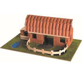 Stavějte zcihel Statek stavebnice Brick Trick vkrabici 40x27x9cm