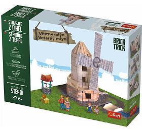 Stavějte zcihel Větrný mlýn stavebnice Brick Trick vkrabici 36x25x7cm