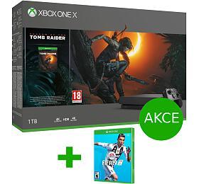 XBOX ONE X1 TB+ Shadow ofTomb Raider +FIFA 19