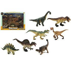 Dinosaurus plast 8ks vkrabici 46x34x7cm