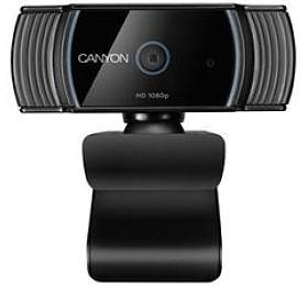 CANYON webkamera 1080P full HD2.0Mega auto focus, USB2.0 ,otočná 360°, vestavěný mikrofon