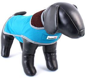 Doodlebone oboustranný kabát, Tweedie, modrý/tyrkysový, velikost XL