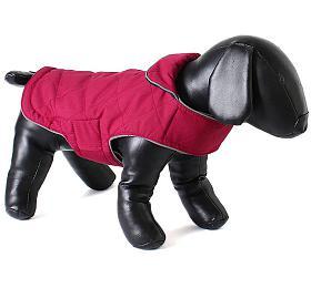 Doodlebone oboustranná zimní bunda, raspberry/navy, velikost M