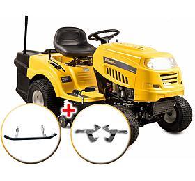 Riwall PRO RLT 92H POWER KIT, travní traktor sezadním výhozem ahydrostatickou převodovkou +nárazník