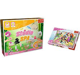 PACK Science for you Studio SPA 21pokusů +Puzzle Disney Princezny 260 dílků vkrabici 40x26x13cm