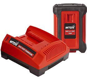 MTD Startovací sada 40V lithium iontová baterie 2Ah +nabíječka