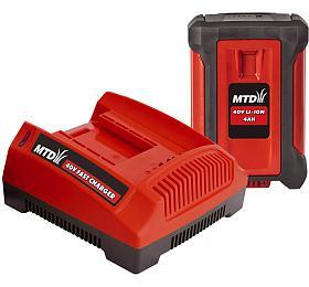 MTD Startovací sada 40V lithium iontová baterie 4Ah +nabíječka