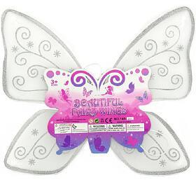 Křídla motýlí nylon 49x43cm vsáčku karneval