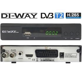 SET TOP BOX DI-WAY T2-ONE plus FullHD s HEVC H.265 DVB-T2, USB přijímač