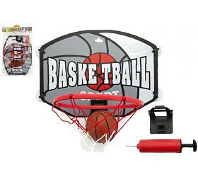 Koš basketbal +míč adoplňky plast 40cm vsáčku