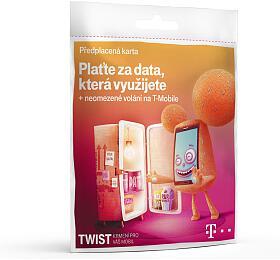 TWIST SIM Vsíti 200Kč +data naden T-Mobile
