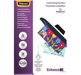 FELLOWES laminovací fólie/ formát A3/ 80mic ImageLast/ velikost 303x426 mm/ lesklé/ 100 pack