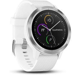 GARMIN GPS multisportovní hodinky vívoActive3 Optic Silver White