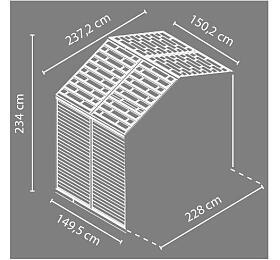 Palram Rozšíření pro Skylight 8x4 šedý