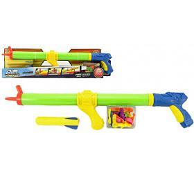 Vodní pistole stříkací pumpa 3v1 +vodní bomby araketa plast 60cm vkrabici