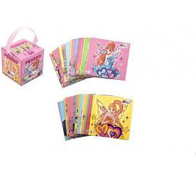 Pexeso WINX Club papírové společenská hra 32obrázkových dvojic vpapírové krabičce