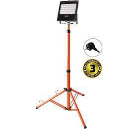 Solight LED venkovní reflektor s vysokým stojanem, 50W, 4250lm, kabel se zástrčkou, AC 230V