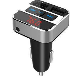 Solight FM transmitter s bluetooth připojením do auta, 2x USB + handsfree
