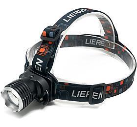 Solight LED čelová nabíjecí svítilna, 3WCree, 120lm, Li-ion