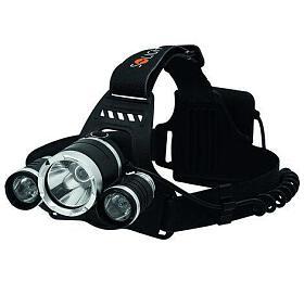 Solight LED čelová svítilna SUPER POWER, 900lm, 3xCree LED, 4xAA