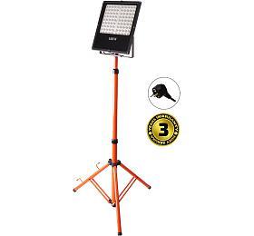 Solight LED venkovní reflektor svysokým stojanem, 100W, 8500lm, kabel sezástrčkou, AC230V