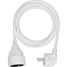 Solight prodlužovací kabel -spojka, 1zásuvka, bílá, 3m