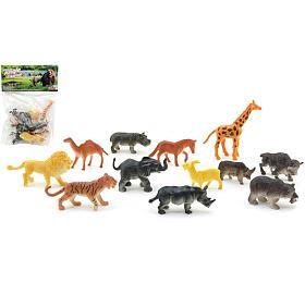 Zvířátka safari ZOO plast 6cm 12ks vsáčku