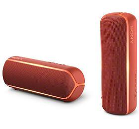 Sony SRS-XB22 přenosný bezdrátový reproduktor NFC, Bluetooth® a Extra Bass™, červený