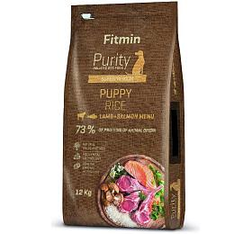 Fitmin dog Purity Rice Puppy Lamb&Salmon -12 kg