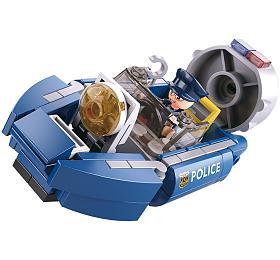 SLUBAN stavebnice Police Serie Hoovercraft, 74dílků