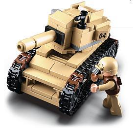 SLUBAN stavebnice Army Tank, 158