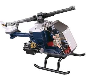 SLUBAN stavebnice Police Serie Helikoptéra, 88dílků