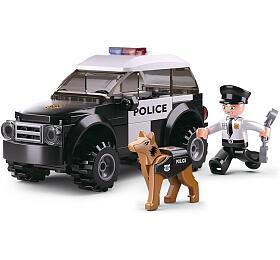 SLUBAN stavebnice Police Serie Hlídka K9se psem, 78dílků