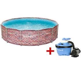 SET Bazén Marimex Florida CIHLA 3,66x0,99 m + Písková filtrace Marimex ProStar 4