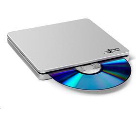 LG -externí mechanika DVD-W/CD-RW/DVD±R/±RW/RAM/M-DISC GP70NS50, Blade Ultra Slim, Silver, box+SW