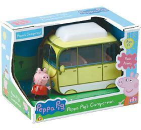 Prasátko Peppa karavan kempingový vůz vkrabici 20x14x13cm