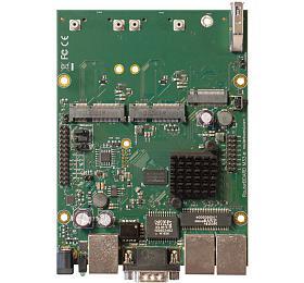 MikroTik RouterBOARD RBM33G 256MB RAM, 2x880 MHz, 2xminiPCI-e, 1xM.2 slot, 2xSIM slot, 3xLAN, L4