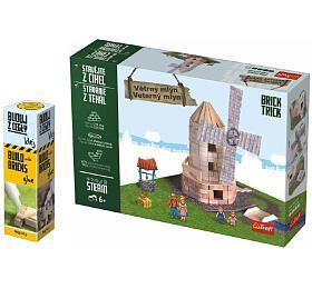 Pack Stavějte zcihel Větrný mlýn stavebnice Brick Trick +lepidlo grátis vkrabici 35x25x7cm