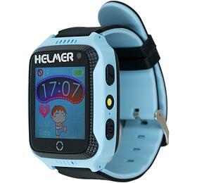 HELMER dětské hodinky LK 707 s GPS lokátorem/ dotykový display/ IP65/ micro SIM/ kompatibilní s Android a iOS/ modré