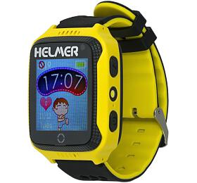 HELMER dětské hodinky LK 707 s GPS lokátorem/ dotykový display/ IP65/ micro SIM/ kompatibilní s Android a iOS/ žluté