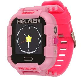 HELMER dětské hodinky LK 708 s GPS lokátorem/ dotykový display/ IP67/ micro SIM/ kompatibilní s Android a iOS/ růžové