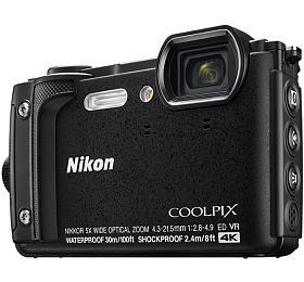 NIKON COOLPIX W300 Black +2 in1 plovoucí popruh
