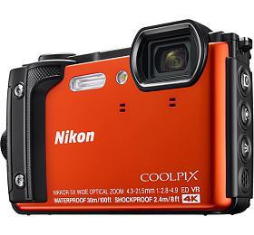 NIKON COOLPIX W300 Orange +2 in1 plovoucí popruh