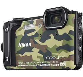 NIKON COOLPIX W300 Camouflage +2 in1 plovoucí popruh