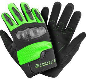 Dětské rukavice Ultimate PRO zelená 8-12 let Ultimate Racing