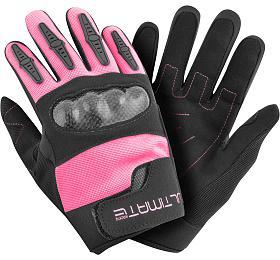 Dětské rukavice Ultimate PRO růžová 8-12 let Ultimate Racing