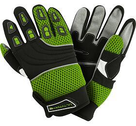 Dětské rukavice Ultimate zelené 8-12 let Ultimate Racing