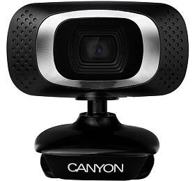CANYON 720P HD webová kamera, USB2.0, otočná o 360°, rozlišení 1280*720