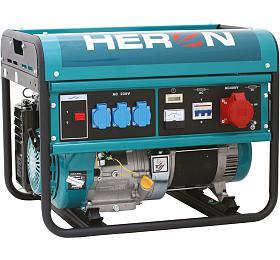 Elektrocentrála benzínová 13HP, 6,0kW/2,2kW 230V- testovací model, zalit benzínem HERON
