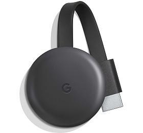 Google mini počítač Chromecast 3/ Full HD/ micro USB/ HDMI/ Wi-Fi/ Windows/ Android/ iOS/ černý